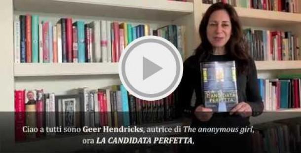 Geer Hendricks, saluto ai lettori italiani.